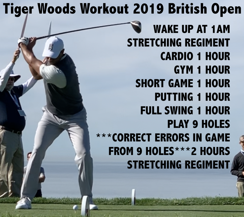 Tiger Woods Workout 2019